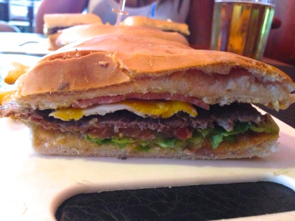 Lomitos are Argentina's take on a hamburger.