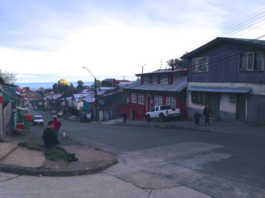 The purple house was our home whilst in Puerto Montt