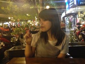 Good mentality + good wine = Good time
