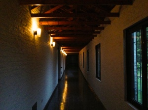 The ominous hallway that led to my conversation with Padre Jorge